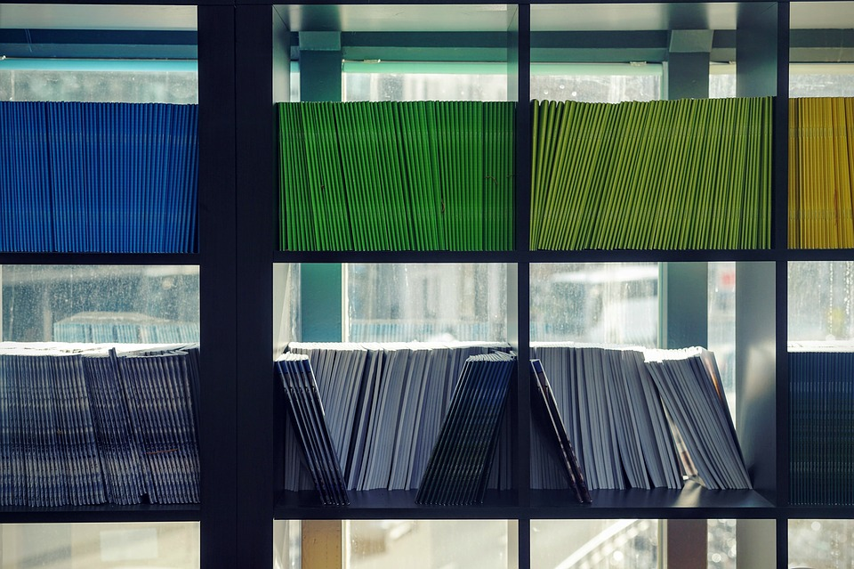 How To Organize Your Office Bookshelves